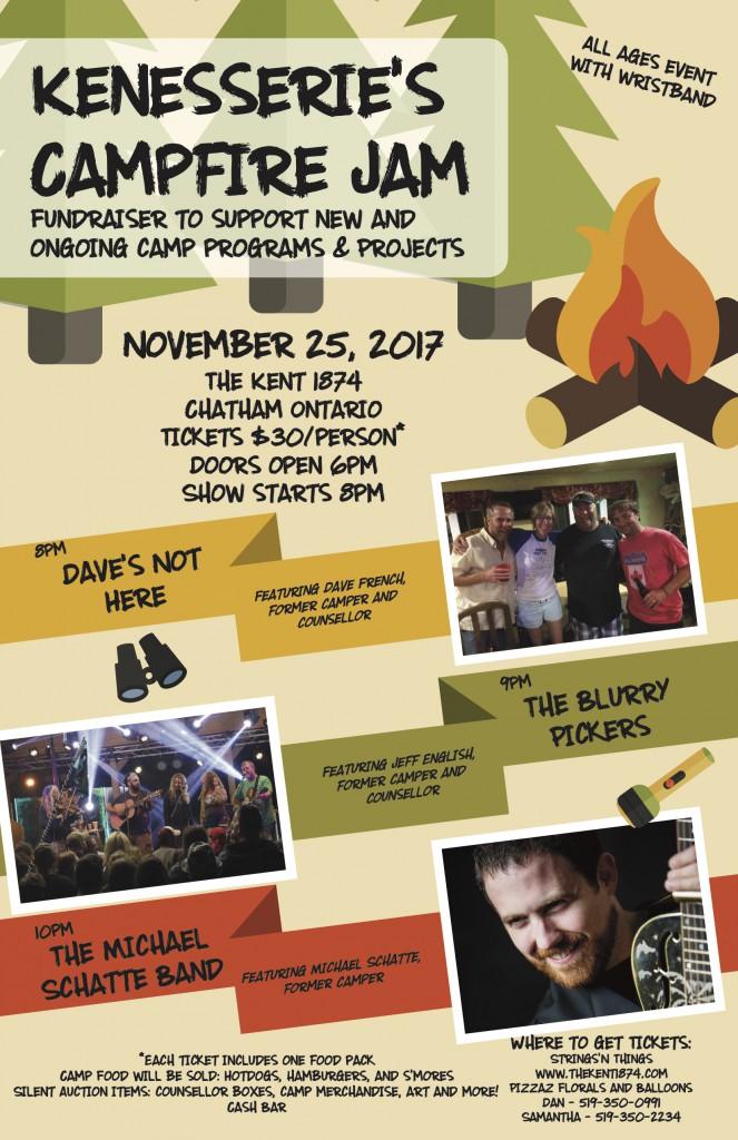 74906 Kenessarie Camp Campfire Jam Poster